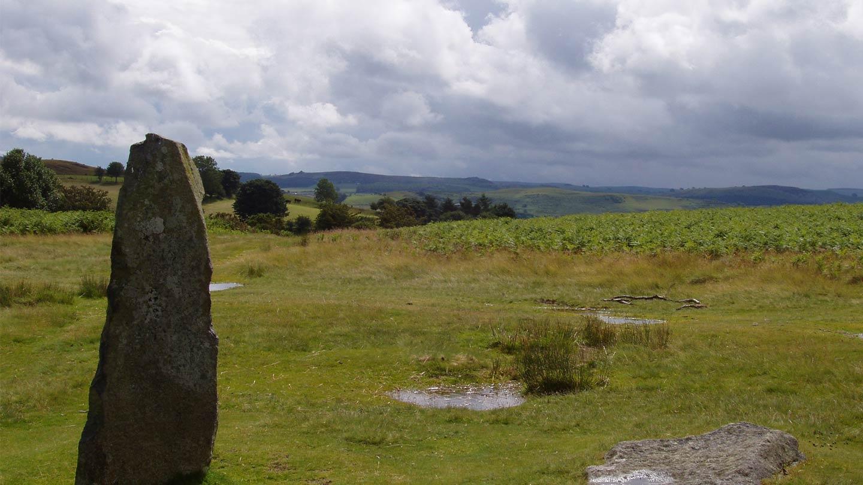Standing stone Mitchels Fold