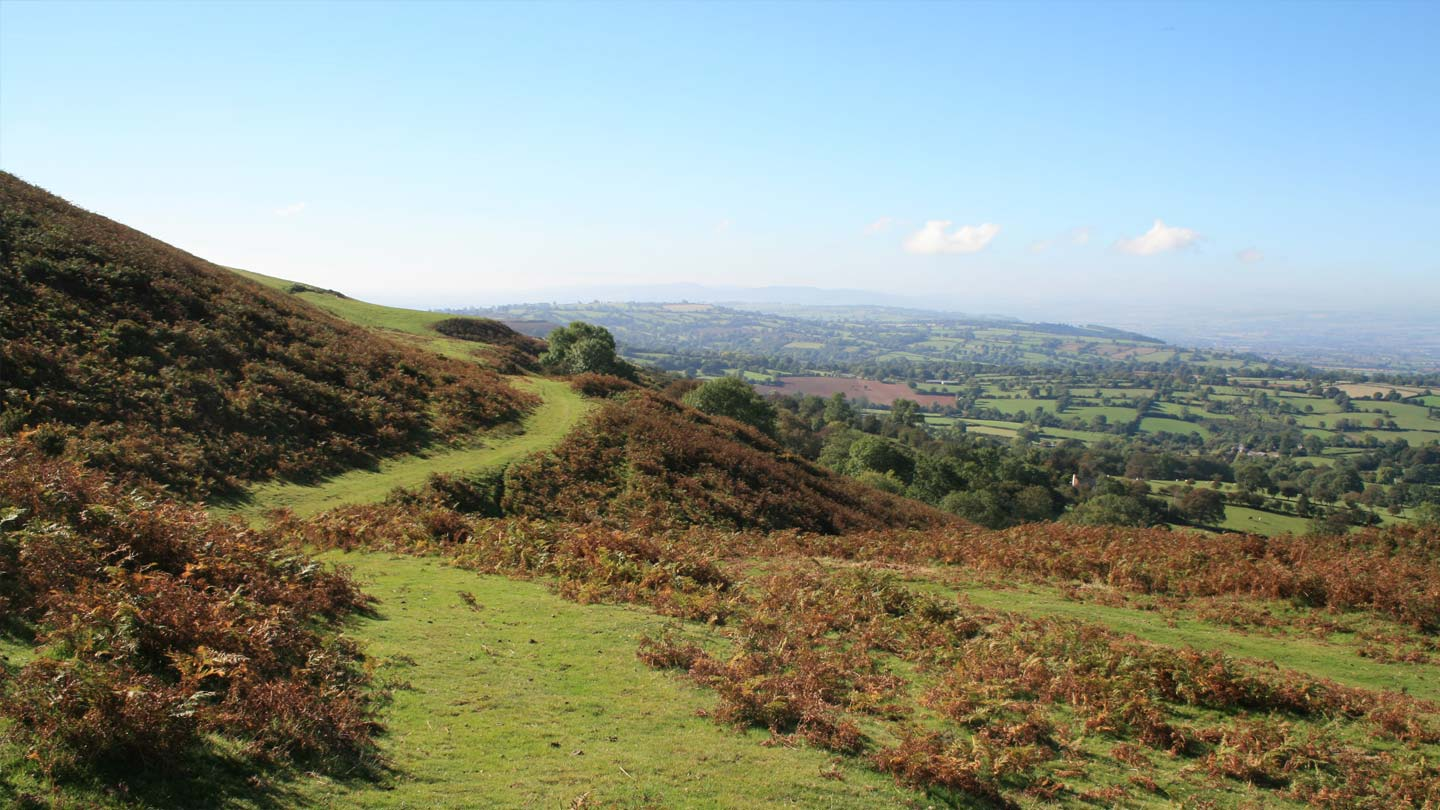 Path along Brown Clee with view