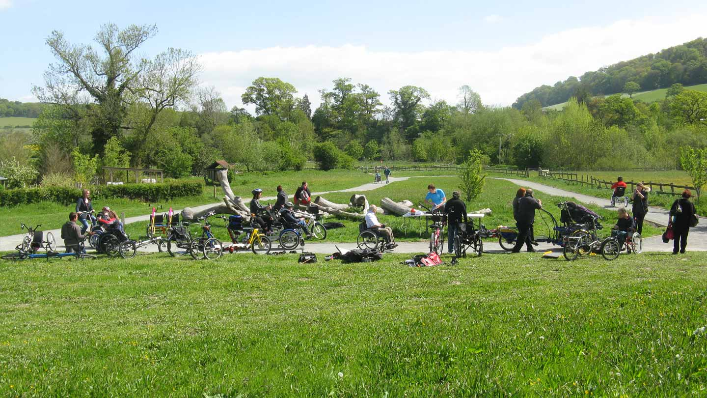 Inclusive Cycle Trail at Shropshire Hills Discovery Centre, Test event May 2015