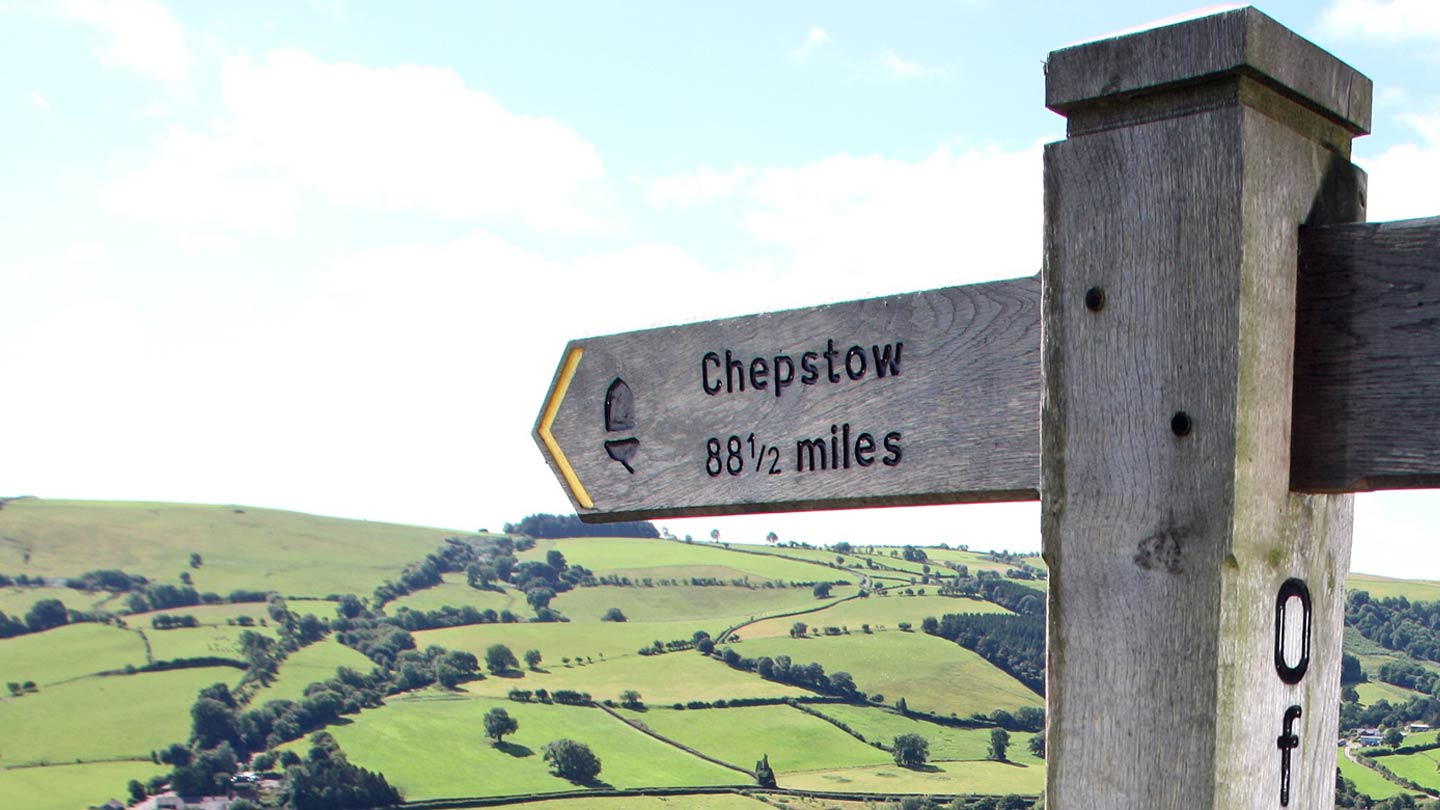 Signpost along the Offa's Dyke Path