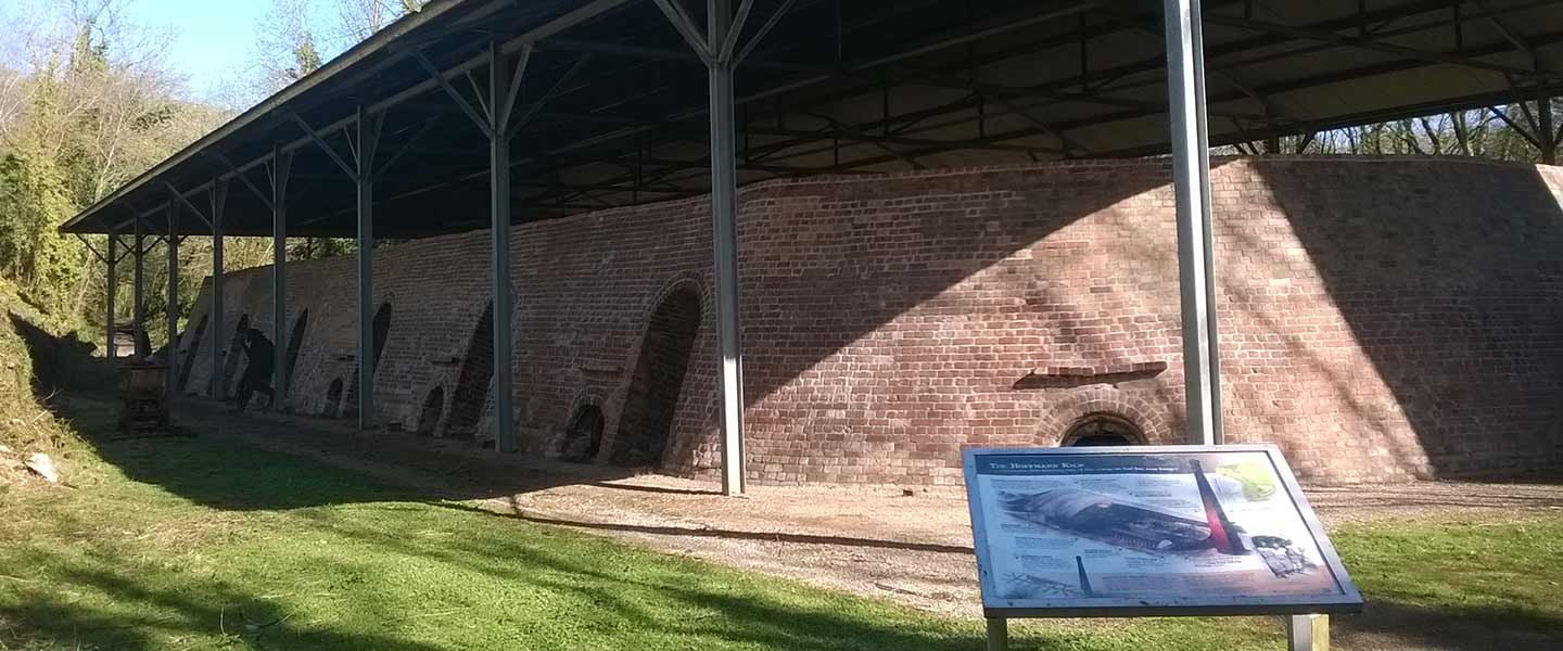 Tourist sign and outside the Hoffman Kiln